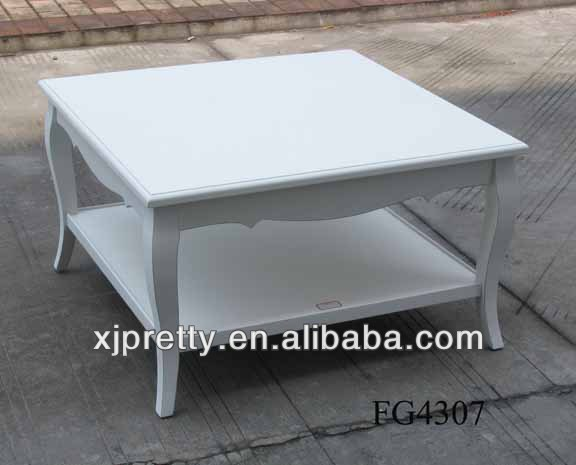 high quality modern white square wood coffe table living room furniture