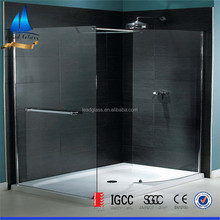 8mm 10mm 12mm thick cut to size clear toughened shower room door glass panels for sale