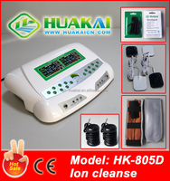 2015 The Newest Generation Factory Price Dual Foot Spa Ion Cleanse HK-805D With Far Infrared Belt For Home Use