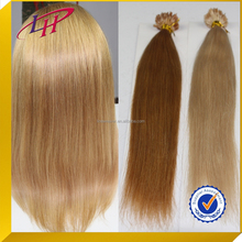 Wholesale cheap brown/blonde straight human hair extension ,100% Brazilian remy hair micro loop ring hair