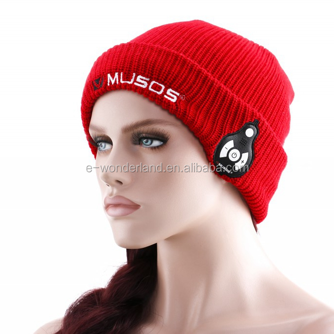 Bluetooth Music Beanie Hat with Headset For iphone 5 5S 6 6+ Smart phones Detachable