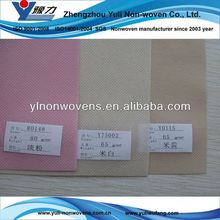 White and colorful bamboo nonwoven fabric