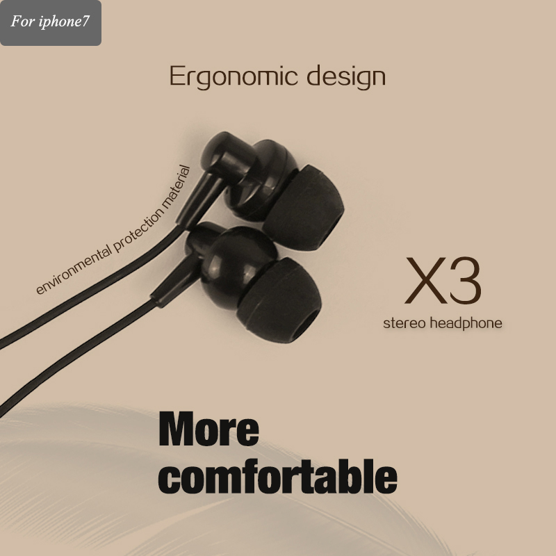 China high quality free sample earphone&headphone stereo wire earphone with mic in ear noise cancelling headphone