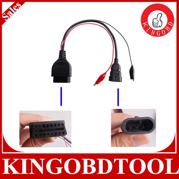 fiat 3pin Fiat Alfa Lancia 3 Pin Male To 16 Pin OBD2 OBDII Female Adapter Cable Diagnostic OBD/OBD2 Car Scanner Tool Cable