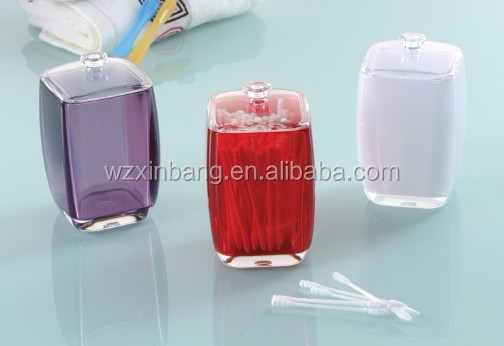 Custom Premium Quality Acrylic Clear Glass Cotton Balls and Swabs Holder