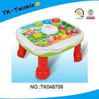 baby toy 14 keys plastic electronic drum musical learning desk