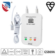 BSI Approved AC 220V/50Hz Gas Alarm GS869/869A with Semiconductor Sensor 7 years long life gas leak detector