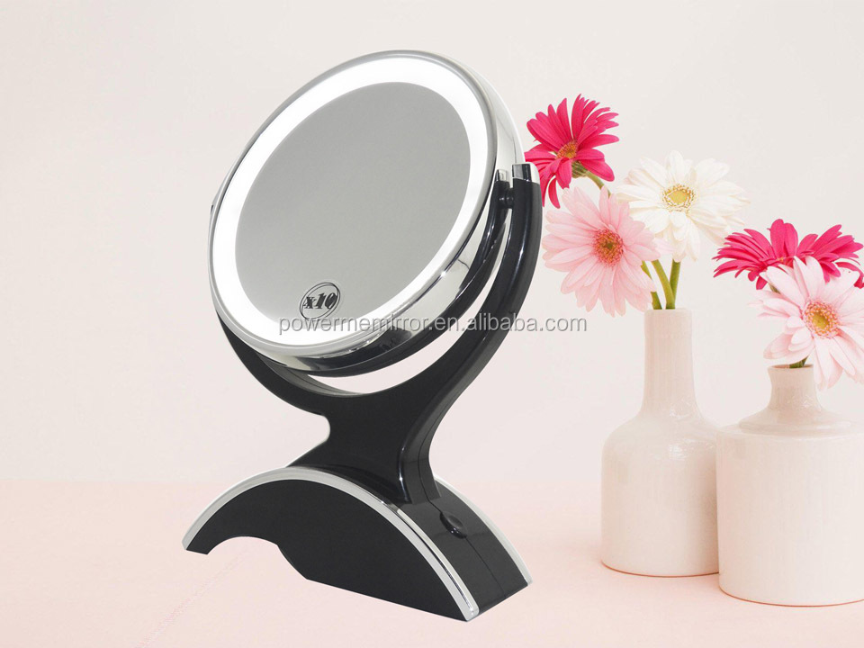 Double sided Desktop Magnifying Vanity Mirror with LED Light