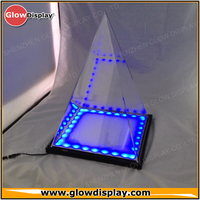 Cone Shape LED Lighted Acrylic Display Case