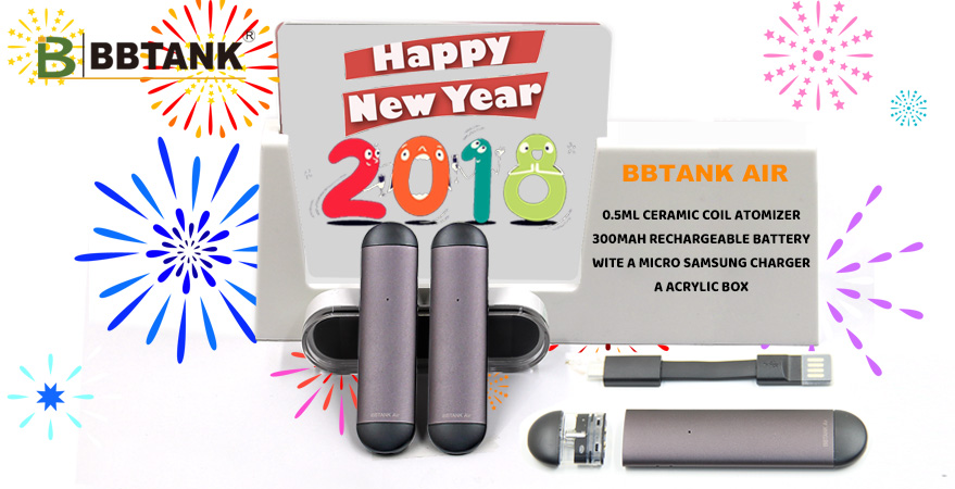 2018 NEW RELEASE BBTANK AIR ceramic coil atomizer oil cartridge with slim 510 thread battery