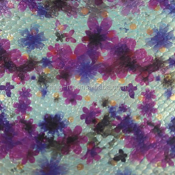 Flower pattern PU synthetic leather