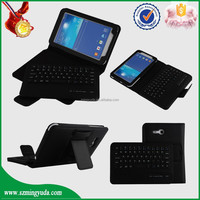 Factory Detachable Wrieless keyboard leather case for Samsung Galaxy Tab3 7.0 Lite T110
