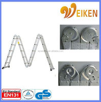 WK-104 5.7m foldable extension telescopic aluminio ladder