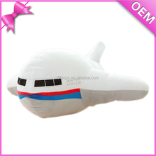 Made high quality aeroplane plush toy with customer logo
