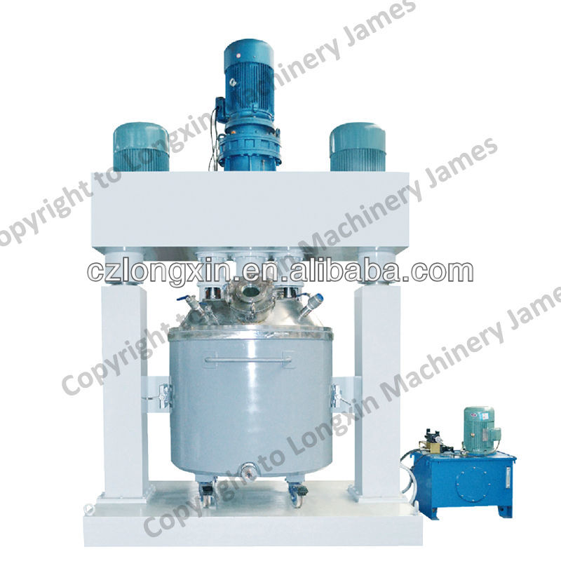 3 shaft disperser mixer for silicone