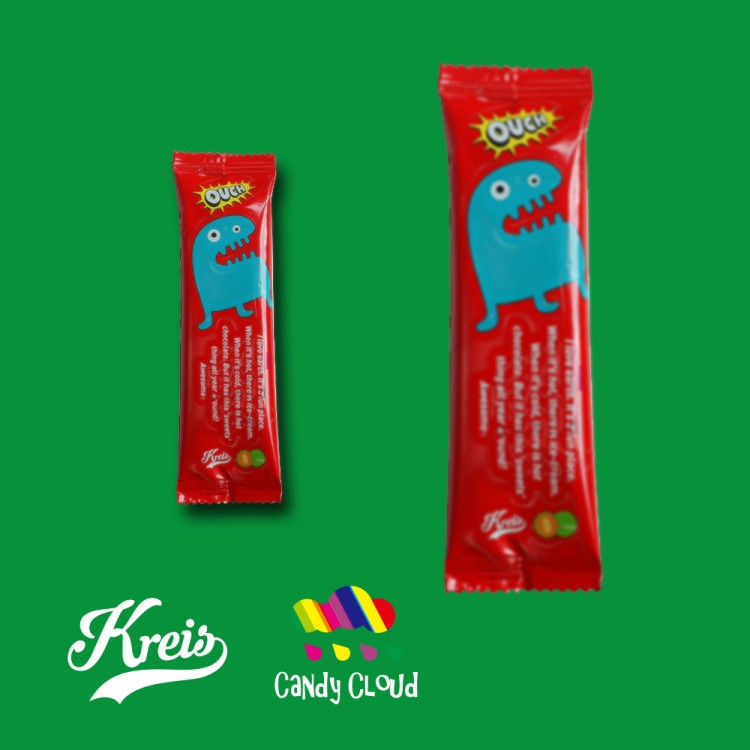 Fruity lollipop with safe stick sugar free
