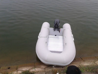 3.3m pvc inflatable boat with outboard boat rowing inflatable boat