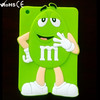 High quality China M&M cute chocolate mobile phone case with popular 3d images silicone case for ipad mini/2/5