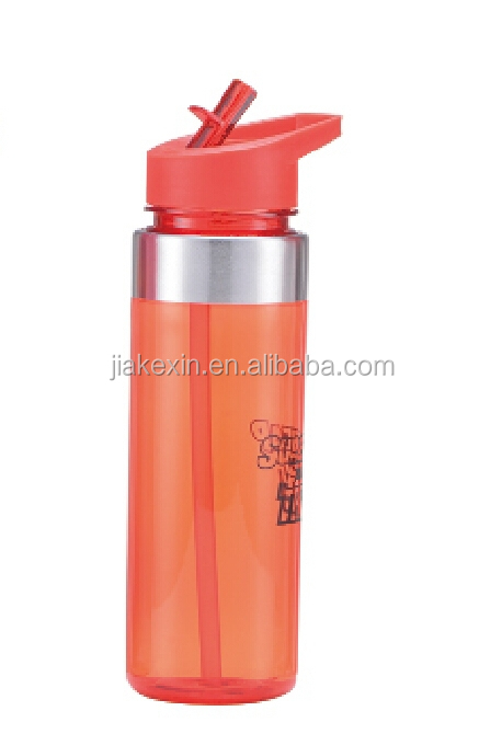 Tritan Sports Plastic Water Bottles With Flip Up Spout And Straw