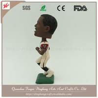 Wholesale Custom Design Resin Soccer Player Personalized Bobble Head Doll