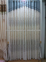 Wholesale tree design oriental curtain fabric curtains
