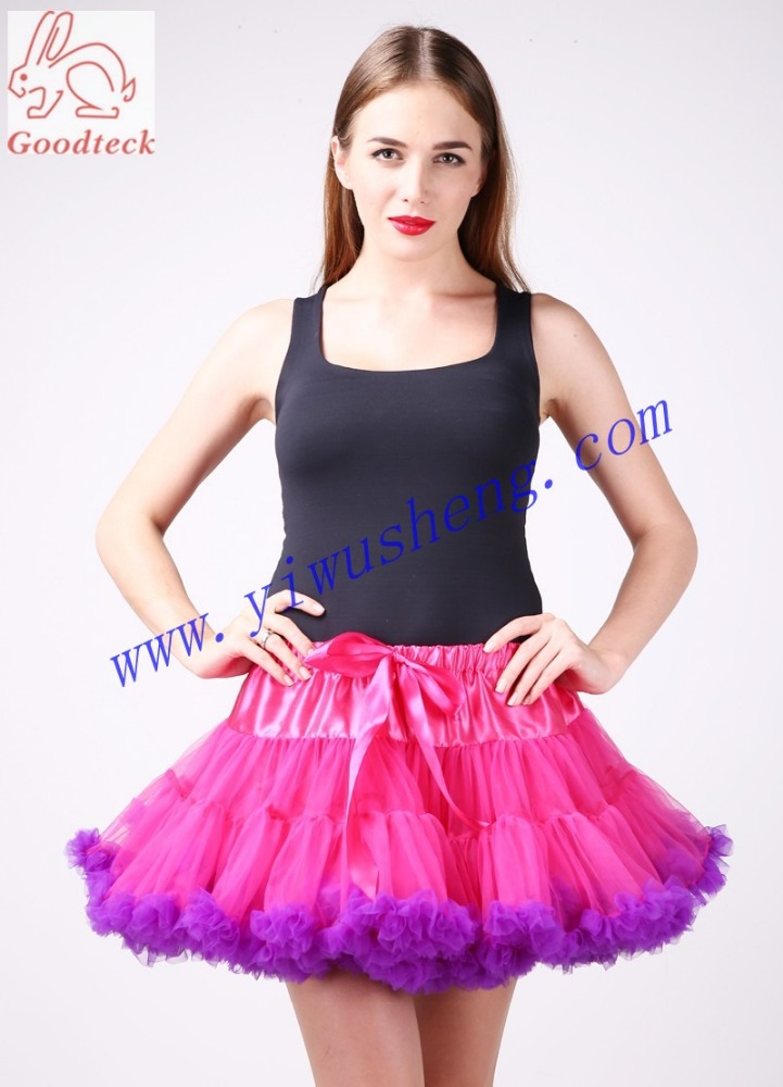 High Quality 100% Polyester Multicolor Fluffy Wholesale Women Super Fluffy Pettiskirt