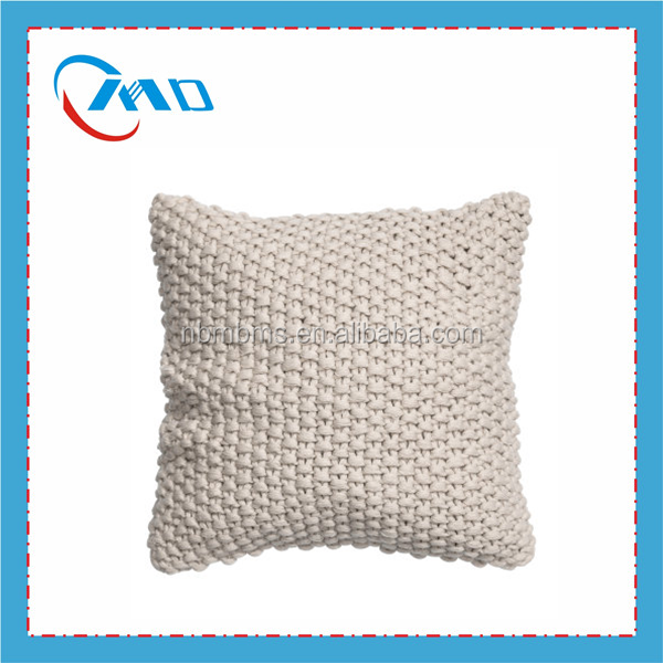 custom pattern high quality popular knitted pillow cushion cover