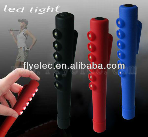 Pen shape battery operated 6 LED emergency lights