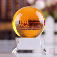 XQA03 Pujiang 60mm 80mm 300mm Small Personalized Seven Color K9 Crystal Ball