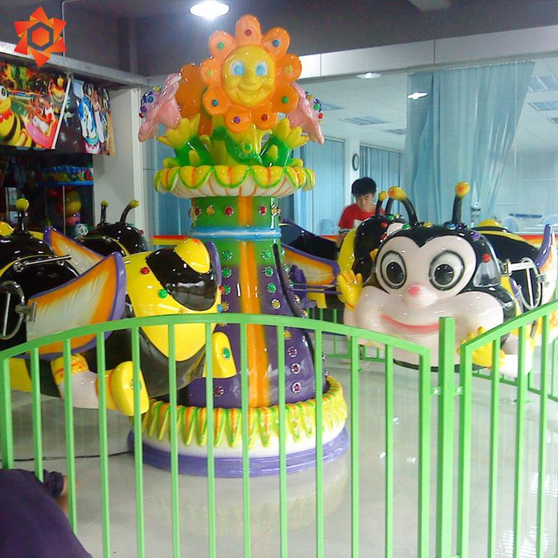 Cute attractive kiddie rides self control bee rides game rotate rotary honey bee game for kids