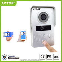 2015 new design ip video intercom photo taking with door opening supports two way intercom and remotely unlock door