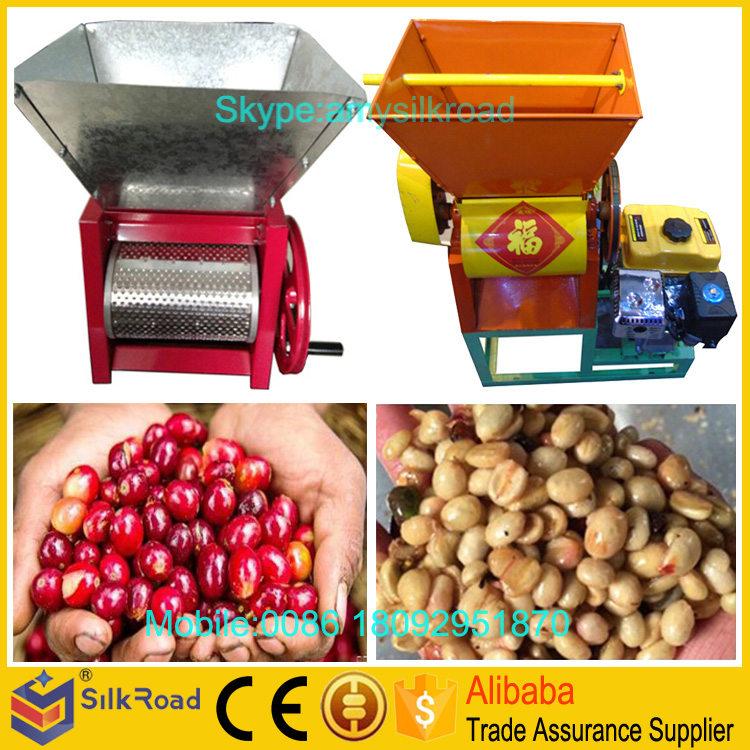 Large capacity fresh coffee pulping machines
