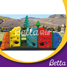 Kindergarten plastic kids rock outdoor climbing structure/backyard climbing Frame