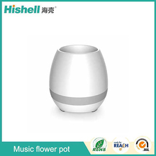 2017 new arrival music flower pot, bluetooth speaker flowerpot, Real Plant Musical Boxes