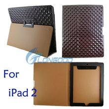 Diamond Style Leather Case Cover For Apple iPad 2 for table pc