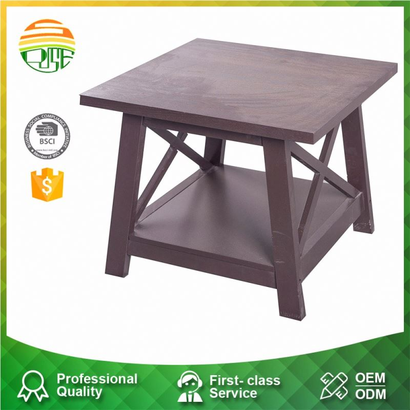 Custom Antique Wooden Top High Quality Short Leg Coffee Tray Table