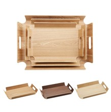 Creative bamboo wooden cake bakery tray restaurant cup-tray serving <strong>plate</strong> fruit dessert <strong>plate</strong>