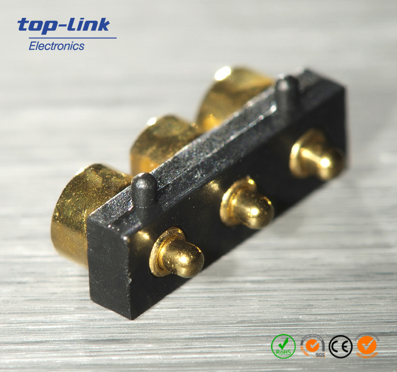 2.80mm pitch right angle pogo pin connector,pcb pogo pin assembly