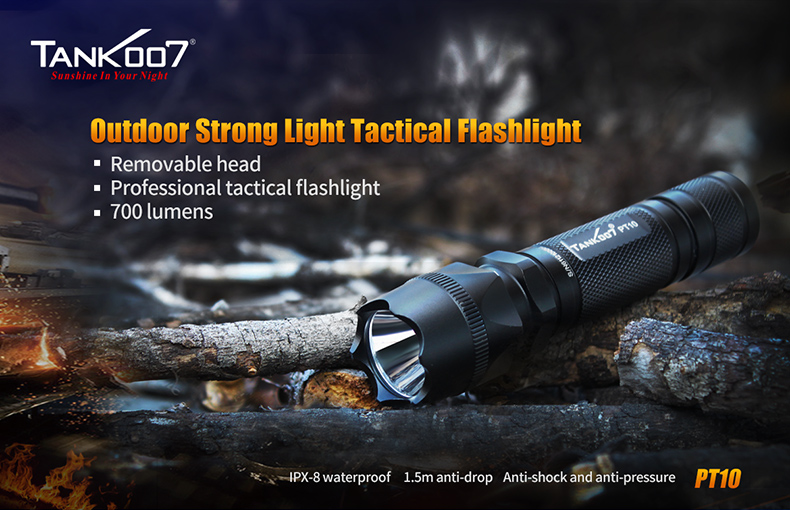 High Power heavy duty police safety security tactical led flashlight torch light