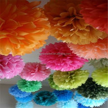 20cm,25cm,30cm Tissue paper pom poms artificial flowers balls birthday Wedding decoration centerpieces