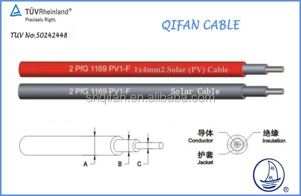 Solar System Cable TUV Certificate PV1-F High quality and biggest brand In Shanghai