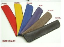 High quality cow leather handmade promotional pencile case