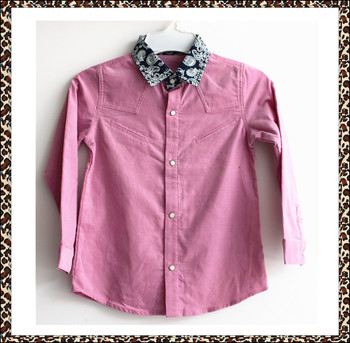 Hot sale 2016 latest styles of boys shirts