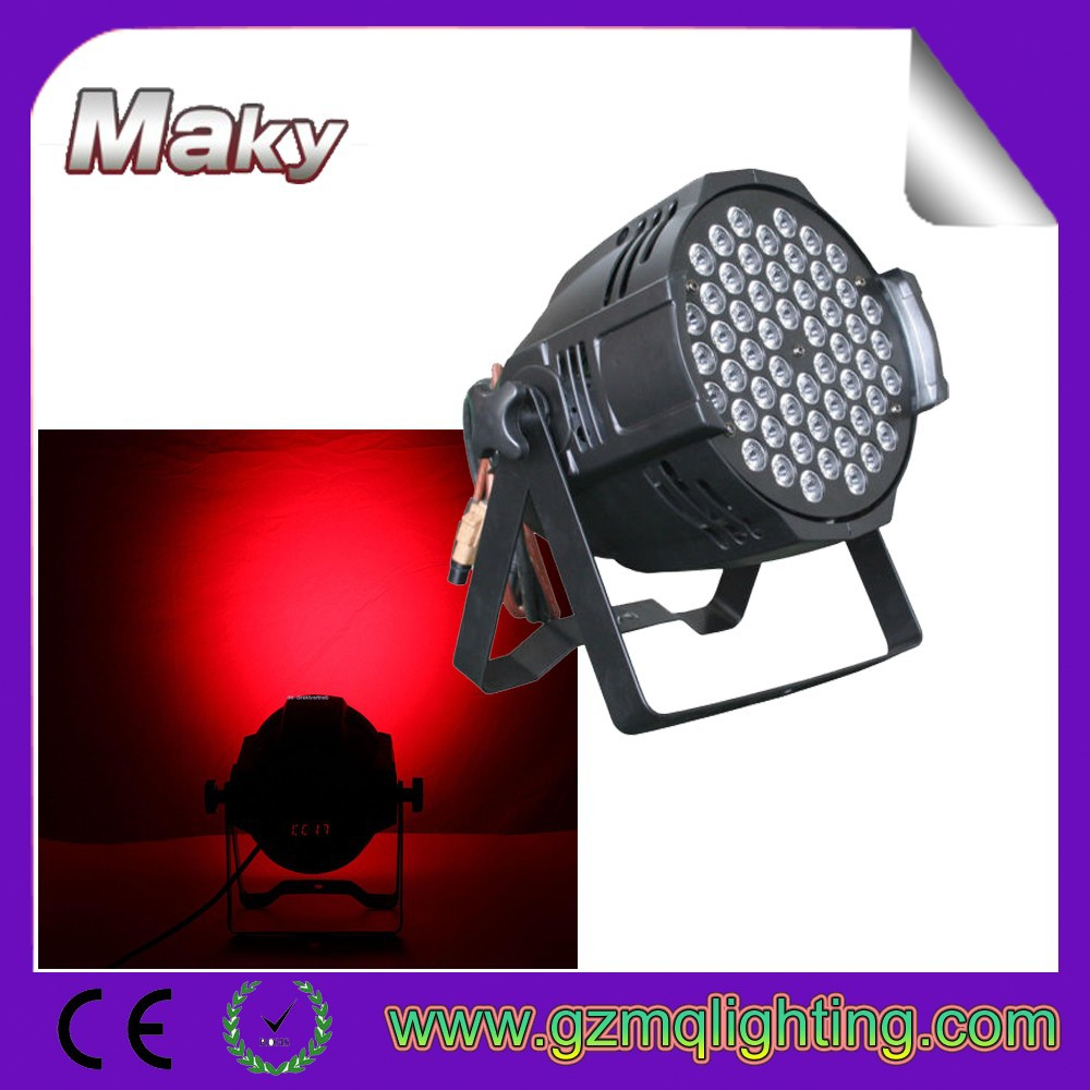 dmx stage lighting 54*3w led par64/ par 64 led 3w/LED 54x3W RGB Par 64