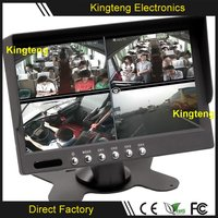 KT-601N Digital Screen 7 Inch Quad Rearview Mirror Car Monitor With 7 TFT Lcd For Car + Bus + Truck Use