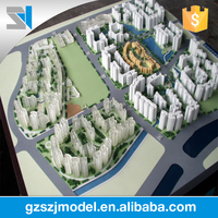 Delicate laser cut architectural models, plastic mass block model