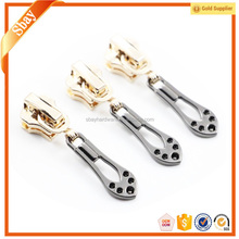 Wholesale custom metal zipper puller slider tabs for handbags/garments/shoes
