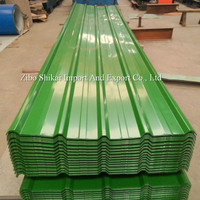 Green color coated metal roofing panel