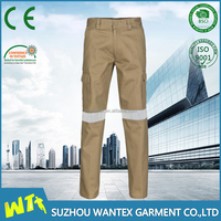 new high visibility cargo work pants reflective tape