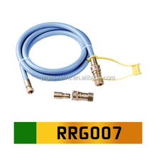 Flexible Heat Resistant High Pressure 6 / 8 / 10 Feet Natural Gas Hose With Quick Disconnect for Gas Appliances